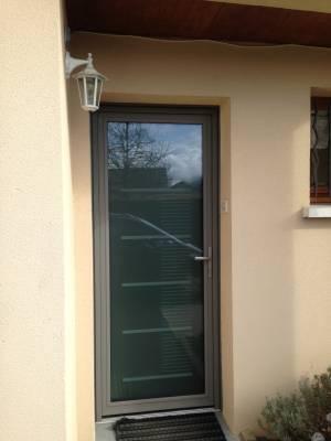 Porte d 39 entr e aluminium vitr e chatou for Porte de service vitree aluminium