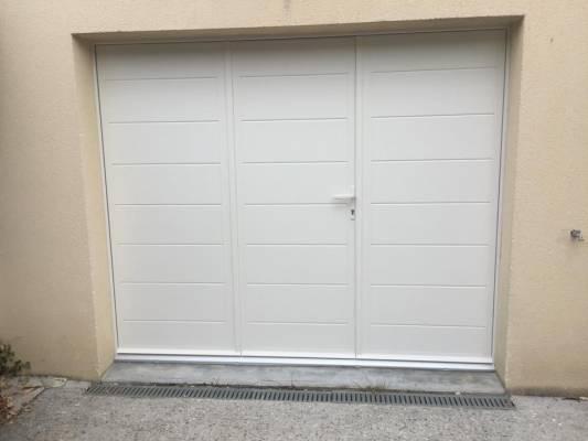 Porte de garage battante sib en alu ral 9001 - Porte de garage 3 vantaux aluminium ...