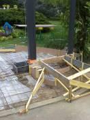 Préparation maçonnerie portillon