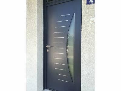 Portes d 39 entr e 78 porte maison porte contemporaine yvelines for Porte entree alu contemporaine