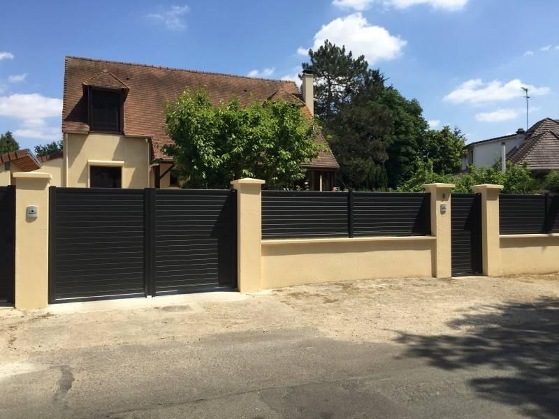 Portail alu 78 portail automatique portail lectrique yvelines portail design - Portillon dans portail ...