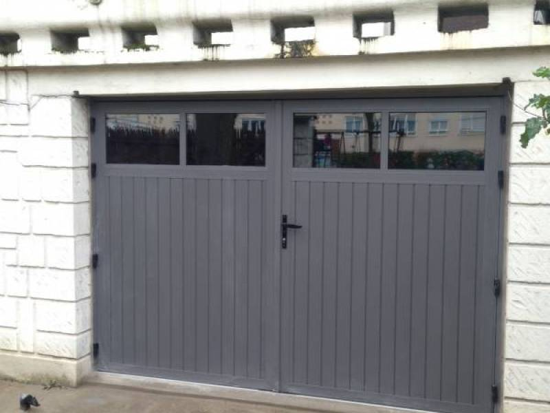 Porte De Garage Porte Sectionnelle Automatique YVELINES Porte - Porte de garage battante