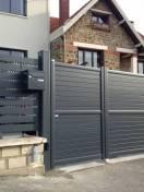 Portail battant et clôture Alu SIB Gris 7016 Texturé