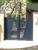 Ensemble portail et clôture Alu SIB Bleu canon