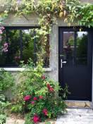 Porte entrée alu vitrée K.line Noir texturé 9005