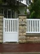 Portillon Cendrars et clôture Aubigné SIB en Alu Blanc S