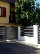 Portail et portillon SIB Alu bicolore noir sablé et gris
