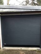 Porte garage à enroulement LAKAL alu gris 9016