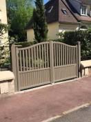 portail battant gris-beige SIB modèle valparaiso