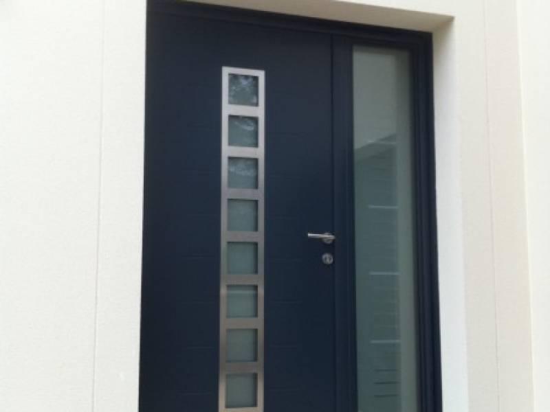 Porte entr e yvelines porte alu contemporaine porte entree alu 78 - Porte entree contemporaine ...
