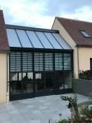 Protection solaire véranda avec BSO et Rolax Bubendorff  protection optimum