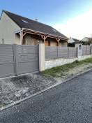 Portail ALU, clôture et portillon coloris gris 7006 Kostum Cadiou