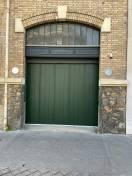 Porte de garage coulissante verte SIB Versailles