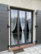 Porte fenêtre ALU K LINE gris WILCO Orgeval