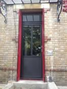 Porte entrée ALU K LINE mono colore noir sablé 2100 wilco MONTREUIL 93