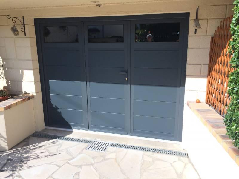 Porte de garage 78 porte sectionnelle automatique for Porte de garage alu 2 vantaux