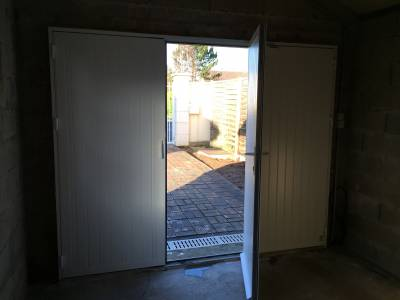 Porte garage battante devis porte battante porte garage for Porte garage battant alu