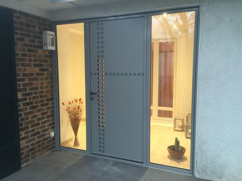 Porte entr e yvelines porte alu contemporaine porte entree alu 78 - Porte d entree kline prix ...